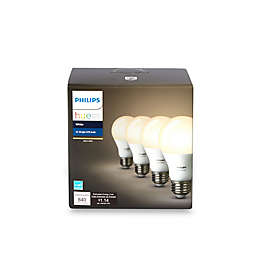 Philips Hue 4-Pack 60-Watt Equivalent A19 Smart LED Light Bulbs