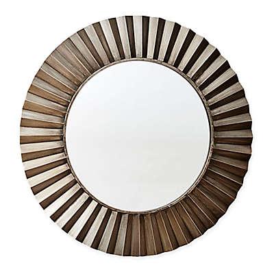 Household Essentials® 37-Inch Sunburst Round Wall Mirror in Bronze