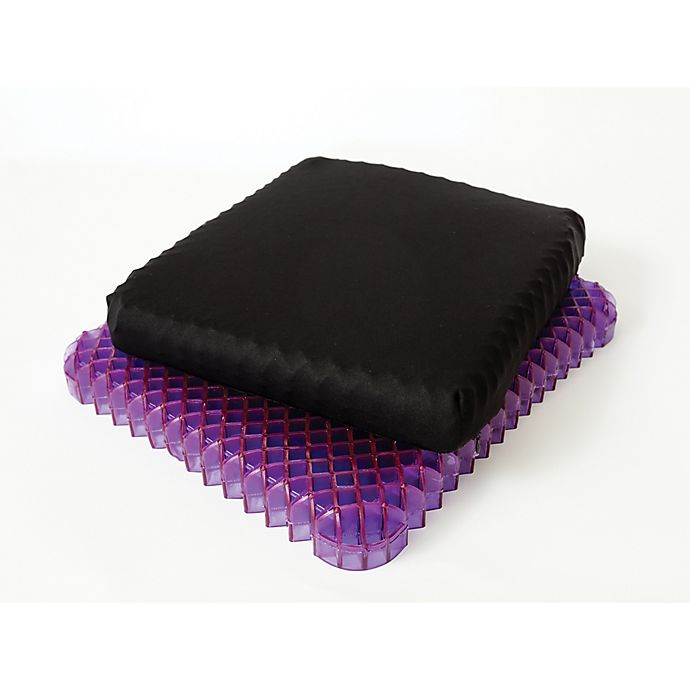 Alternate image 1 for Royal Purple® No Pressure Seat Cushion in Black/Purple