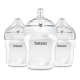 babybrezza® 3-Pack Wide-Neck Bottles in White