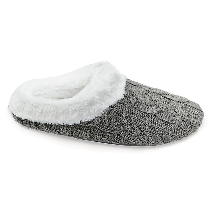 9a0128df896 Loft Living Memory Foam Cable Knit Slippers