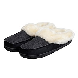 Loft Living Women's Memory Foam Thick Cuff Slippers in Grey