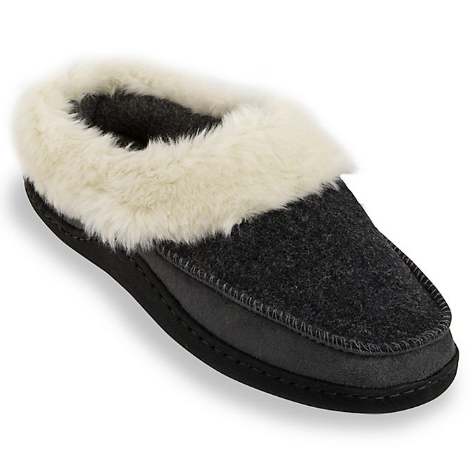 Alternate image 1 for Loft Living Size XL Women's Memory Foam Thick Cuff Slippers in Grey