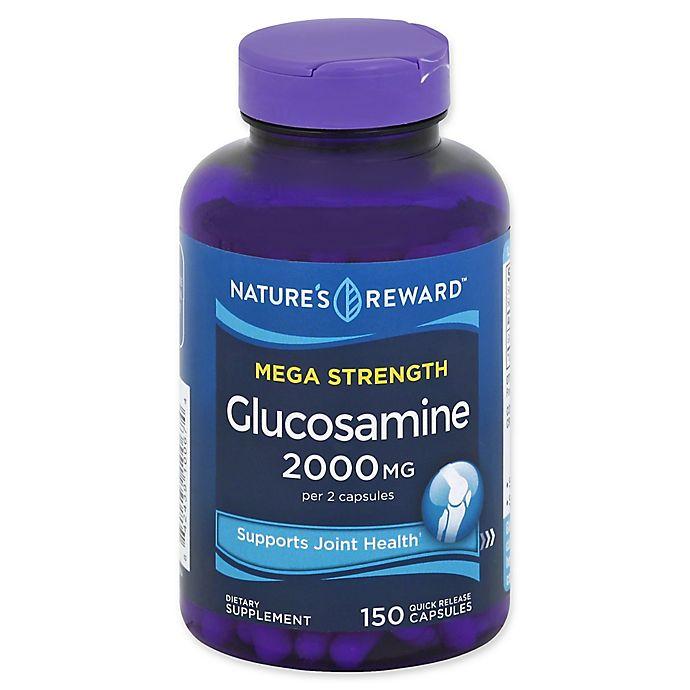 Alternate image 1 for Nature's Reward 150-Count Mega Strength Glucosamine Quick Release Capsules