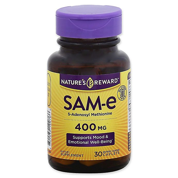 Alternate image 1 for Nature's Reward 30-Count 400 mg SAM-E Enteric Coated Caplets