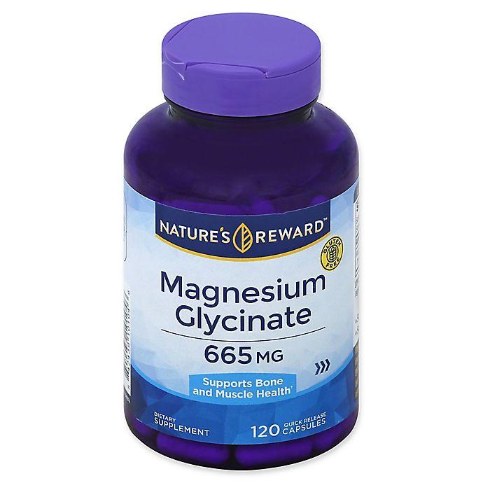 Alternate image 1 for Nature's Reward 120-Count 665 mg Magnesium Glycinate Quick Release Capsules
