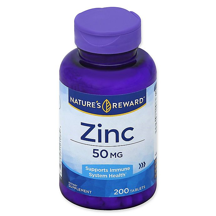 Alternate image 1 for Nature's Reward 200-Count 50 mg Zinc Tablets