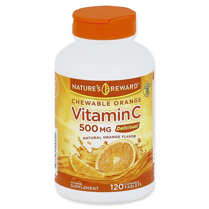 Alternate image 1 for Nature's Reward 120-Count Vitamin C-500 Chewable Tablets in Orange