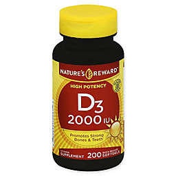 Nature's Reward 200-Count High Potency 2000 IU Vitamin D3 Quick Release Softgels