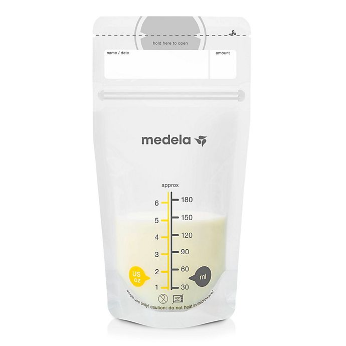 Alternate image 1 for Medela 6 oz. 100-Count Breast Milk Storage Bags