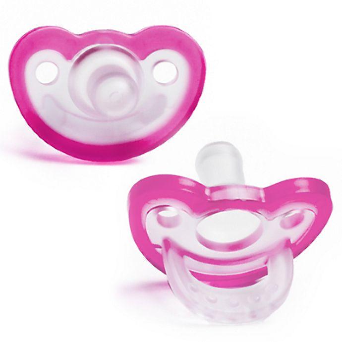 Alternate image 1 for RaZbaby® JollyPop Pacifier In Pink