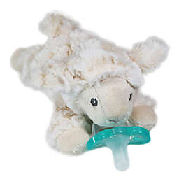 RaZ-Buddy Lamb Plush Pacifier Holder with Removable Pacifier