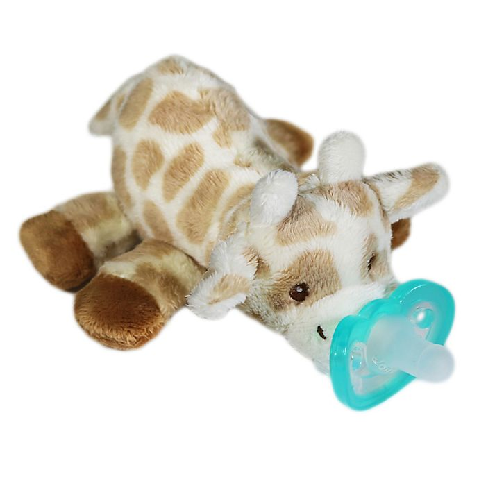 Alternate image 1 for RaZ-Buddy Giraffe Plush Pacifier Holder with Removable Pacifier