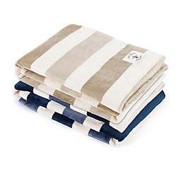 Nautica® Awning Stripe Ultra Soft Plush Throw Blanket
