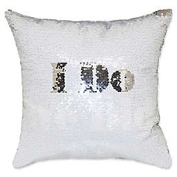 """I Do, We Did"" Mermaid Sequin 18-Inch Square Throw Pillow"