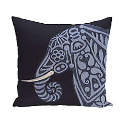 E by Design Inky Animal Print Square Throw Pillow in Blue