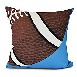 E by Design TD Geometric Throw Pillow in Blue