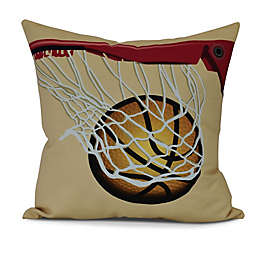 All Net Square Throw Pillow in Gold
