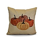 Paper Mache Pumpkins Geometric Throw Pillow in Yellow