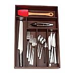 Lipper 12-Inch x 18-Inch Deep Cutlery Tray in Walnut