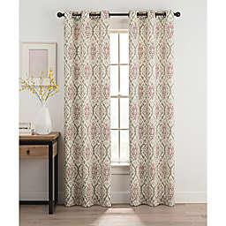 Ikat Grommet Top Window Curtain Panel Pair