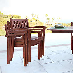 Vifah All-Weather Eucalyptus Outdoor Furniture Collection