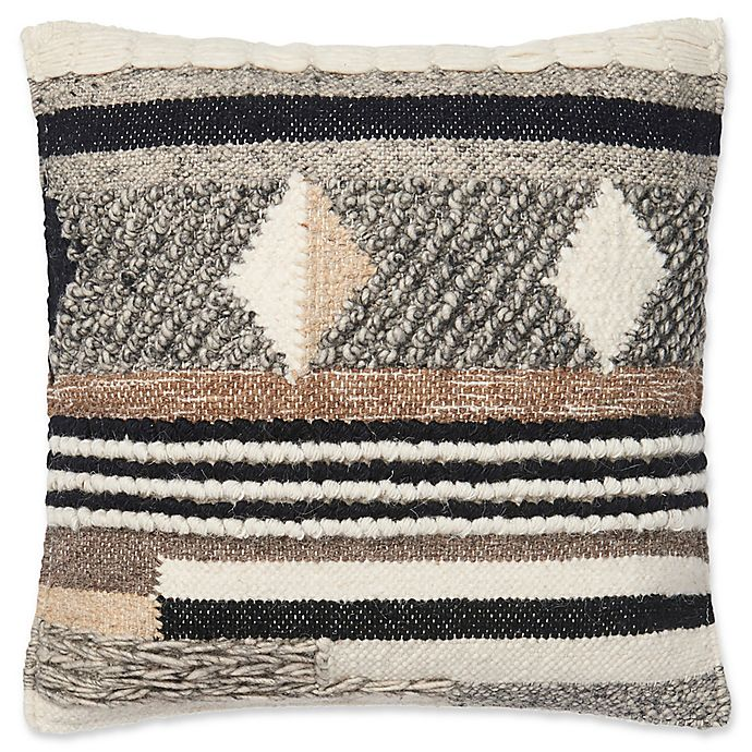 Magnolia Home Shannon Square Throw Pillow In Brown Grey