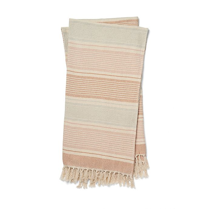 Alternate image 1 for Magnolia Home by Joanna Gaines Anna Throw Blanket in Blush/Ivory