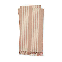 Magnolia Home by Joanna Gaines Lora Throw Blanket in Blush/Ivory