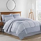 Collin 8-Piece King Comforter Set in Grey