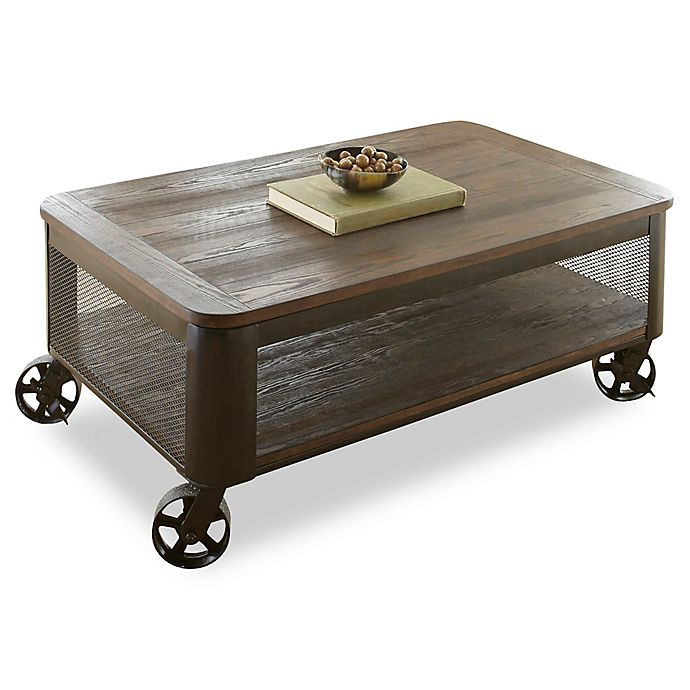 Alternate image 1 for Steve Silver Co. Barrow Lift Top Cocktail Table with Casters in Brown