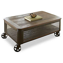 Steve Silver Co. Barrow Lift Top Cocktail Table with Casters in Brown