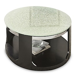 Steve Silver Co. Croften Cracked Glass Cocktail Table in Black