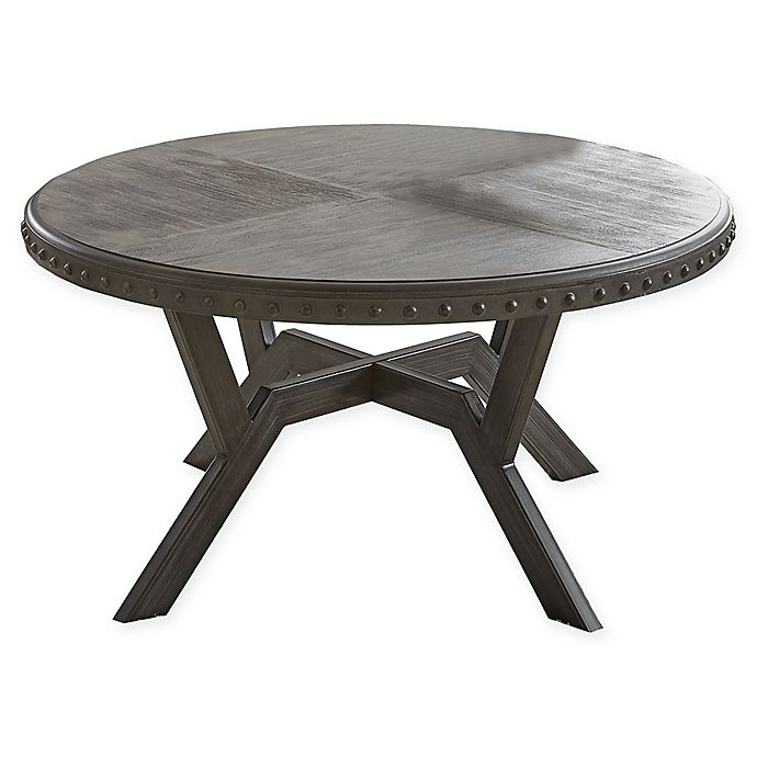 steve silver co alamo round cocktail table in grey bed bath beyond. Black Bedroom Furniture Sets. Home Design Ideas