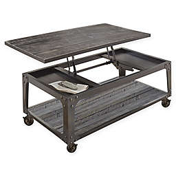 Steve Silver Co. Sherlock Lift Top Cocktail Table with Casters in Brown