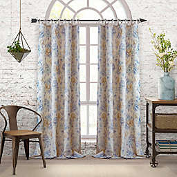 Elrene Annalise Floral Linen Grommet Tie Top Window Curtain Panel