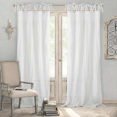 Elrene Jolie Crushed Semi-Sheer Tie Top Window Curtain Panel