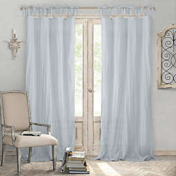 Elrene Jolie Crushed Semi-Sheer Tie Top Window Curtain Panel