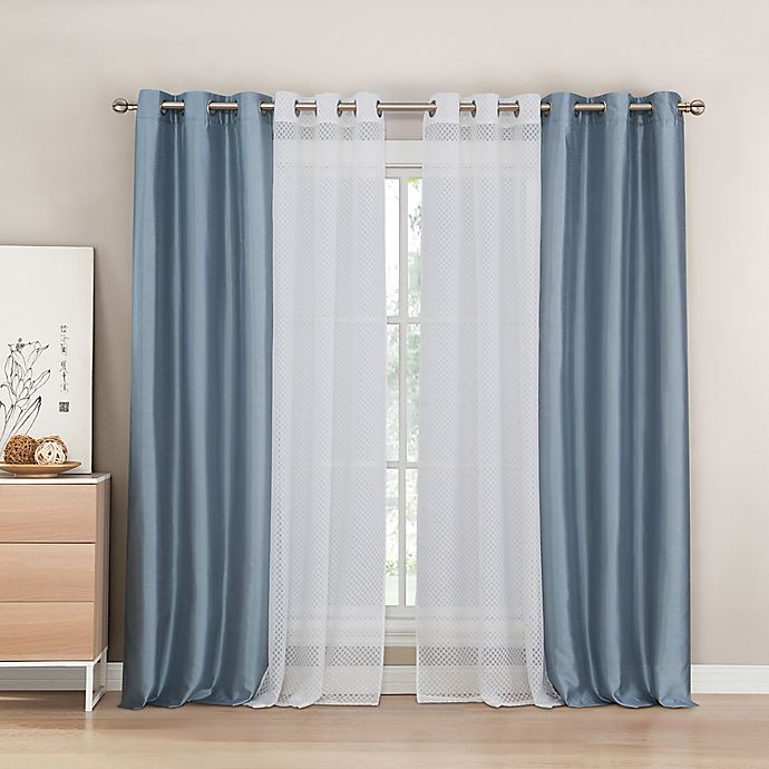 84 Inch Grommet Window Curtain Panel