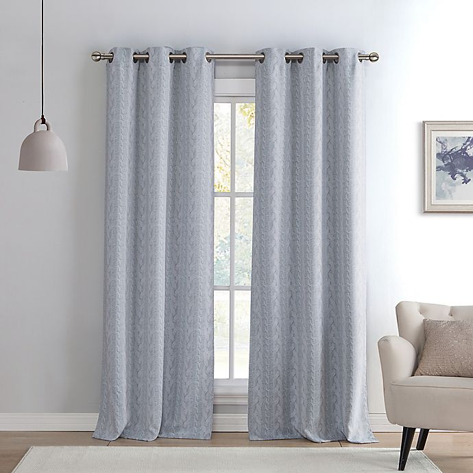 Grey Black Alternate Panels Curtains