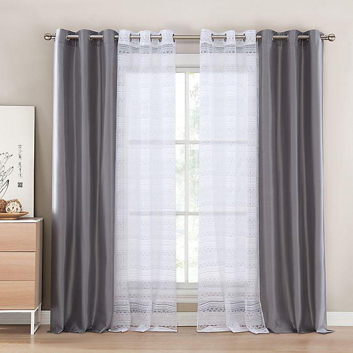 Alternate image 1 for Kensie Matilda Rod Pocket Window Curtain Panel Pair