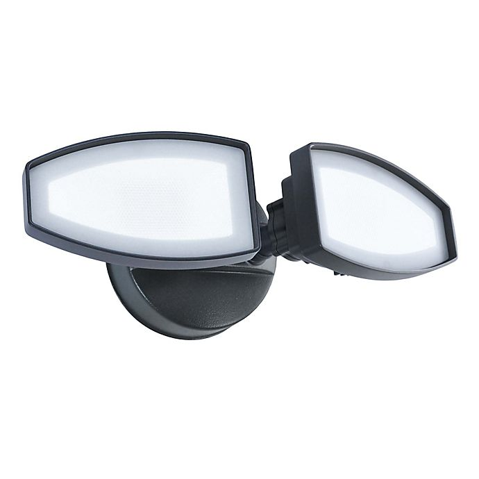 Alternate image 1 for Good Earth Lighting Ecolight 2-Head Switch-Control LED Security Light in Light Bronze