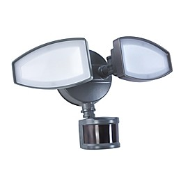 Good Earth Lighting Ecolight 2-Head 180-Degree LED Motion-Controlled Security Fixture in Bronze