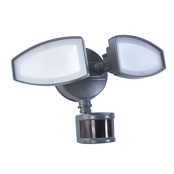 Alternate image 1 for Good Earth Lighting Ecolight 2-Head 180-Degree LED Motion-Controlled Security Fixture in Bronze