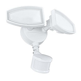 Good Earth Lighting Ecolight 2-Head 180-Degree LED Motion-Controlled Security Fixture in White