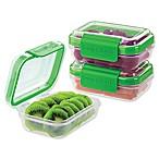 Progressive® SnapLock™ 1-Cup Rectangular Food Storage Container in Green (Set of 3)