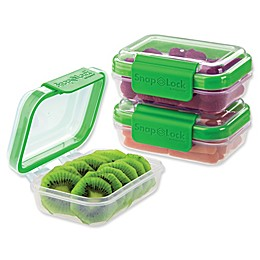 Progressive® SnapLock™ 1-Cup Rectangular Food Storage Container (Set of 3)