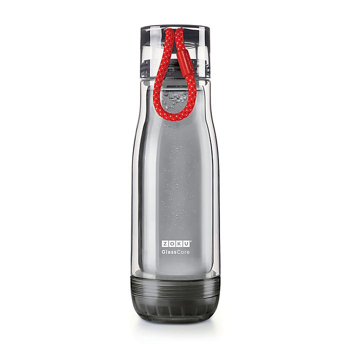 Alternate image 1 for Zoku® 16 oz. Core Bottle in Grey/Red