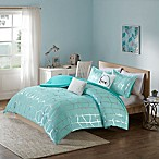 Intelligent Design Raina 5-Piece King/California King Comforter Set in Aqua/Silver