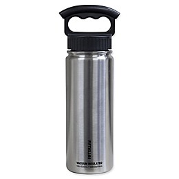 FIFTY/FIFTY Double-Wall Vacuum Insulated 18 oz. Water Bottle with Finger Grip Lid